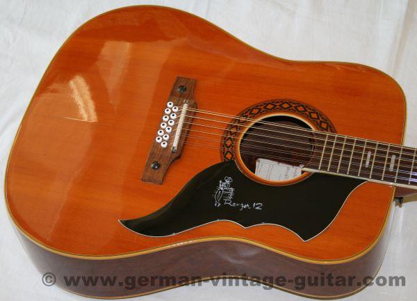 12-saitige Westerngitarre Eko Ranger J.56 von 1967