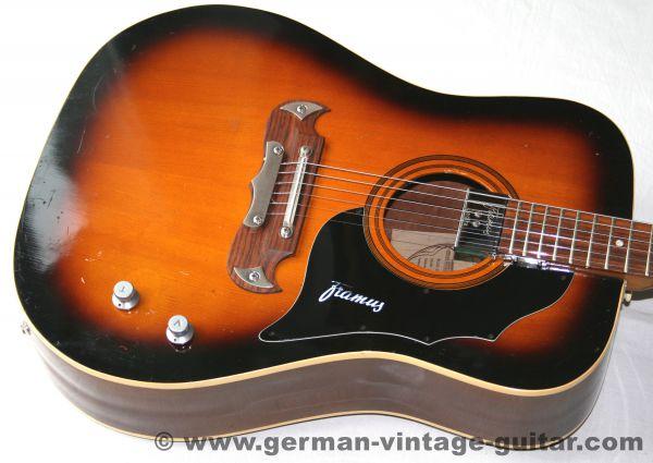 6-saitige Westerngitarre Framus Texan 5/196 von September 1969, Tonabnehmer-Nachrüstung
