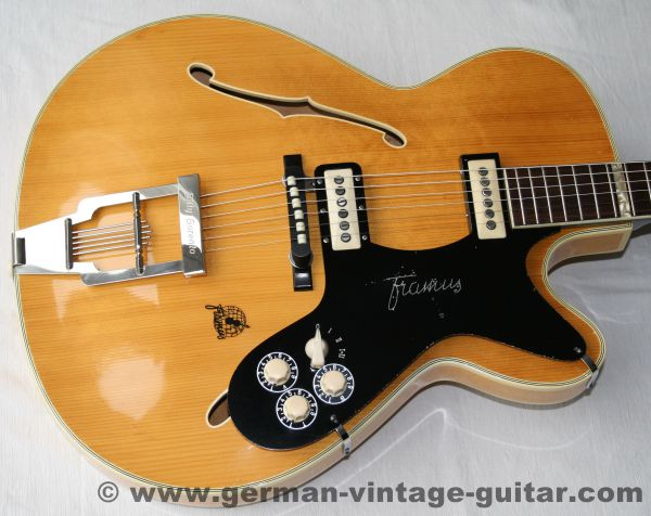 "Framus ""Billy Lorento"" von 1958, seltenes Natur-Finish, 100% originaler Traumzustand"