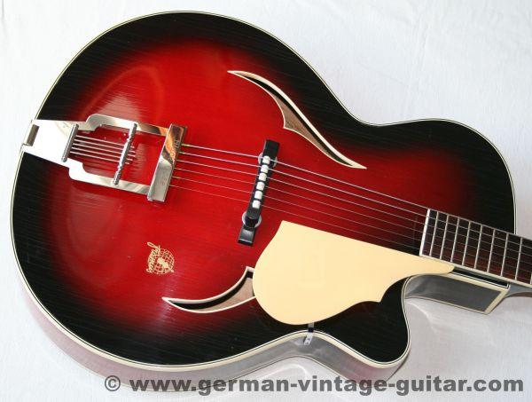 Jazz-/Schlaggitarre Framus Black Rose de Luxe 5/72 von 1960