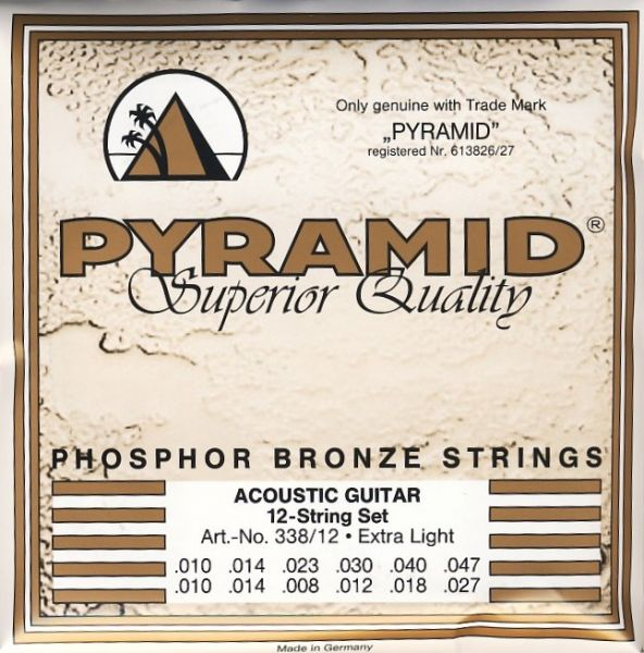 12-string Phosphor Bronze Wound EXTRA LIGHT