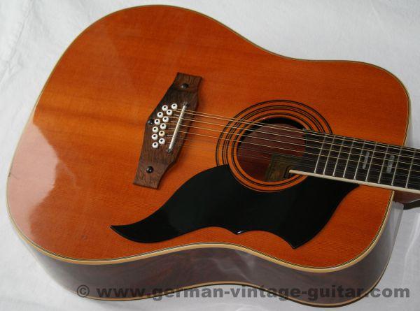 12-saitige italienische Westerngitarre Eko Ranger 12 aus der Zeit von 1975 bis 1977