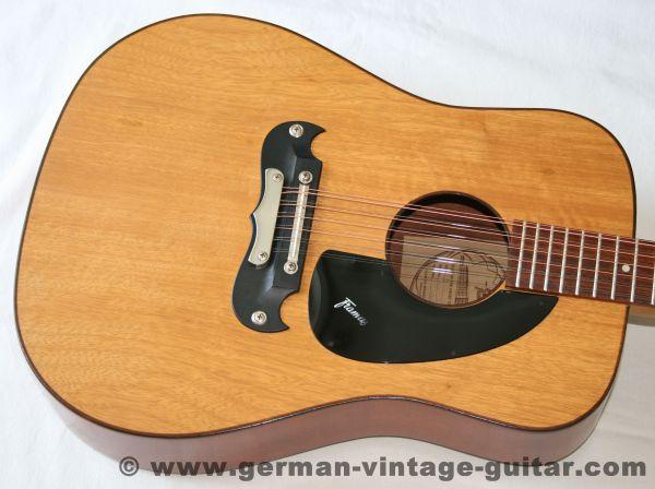 """12-saitige Westerngitarre Framus """"Dix"""" von 1972, seltene Limba-Decke"""