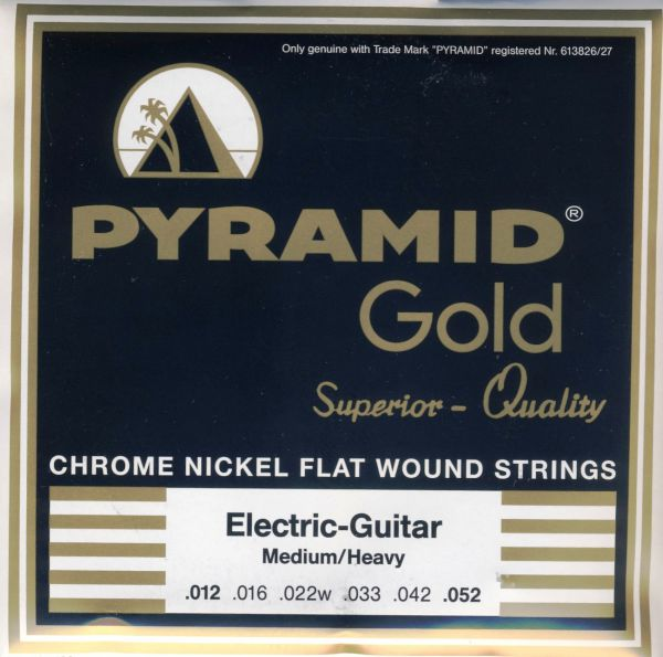 Chrome Nickel Flatwounds, Rd. C., MEDIUM-HEAVY