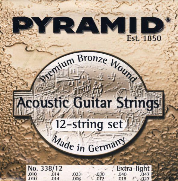 12 Saiten Premium Bronze Wound EXTRA-LIGHT