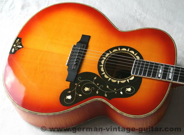 Western-Gitarre Höfner 496 Jumbo, von 1971, unrestauriert und neuwertig, ein Traum!