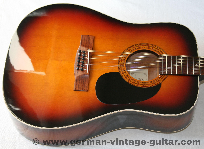 12 saitige Westerngitarre Höfner 490 G von 1988 sunburst Verkauft Referenzen