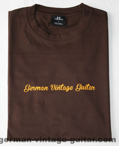 T-Shirt German Vintage Guitar BRAUN