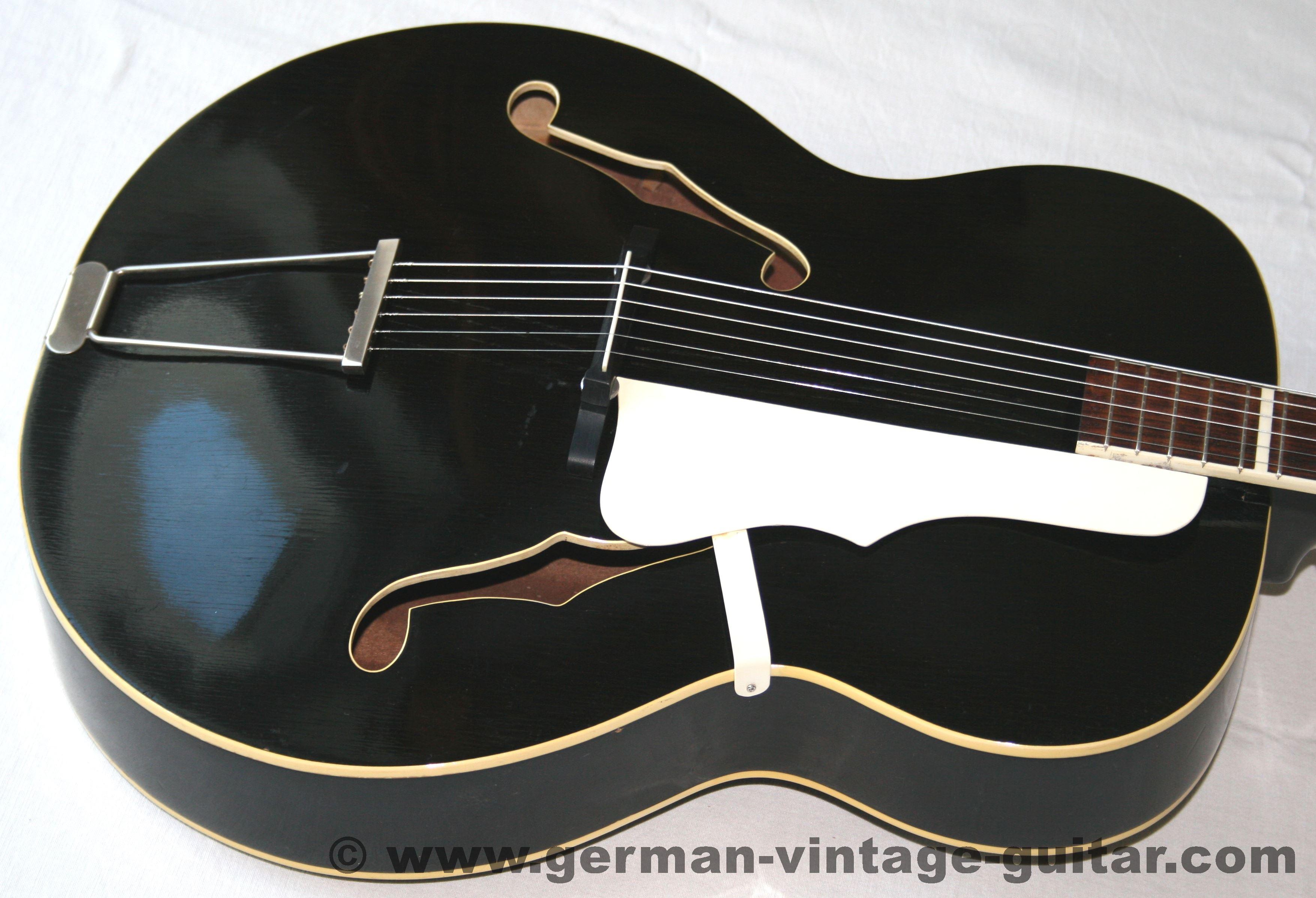 """Rodebald Hoyer """"Rumba"""" 1959 1 Hand Jazz Schlaggitarren Archtops Instrumente"""
