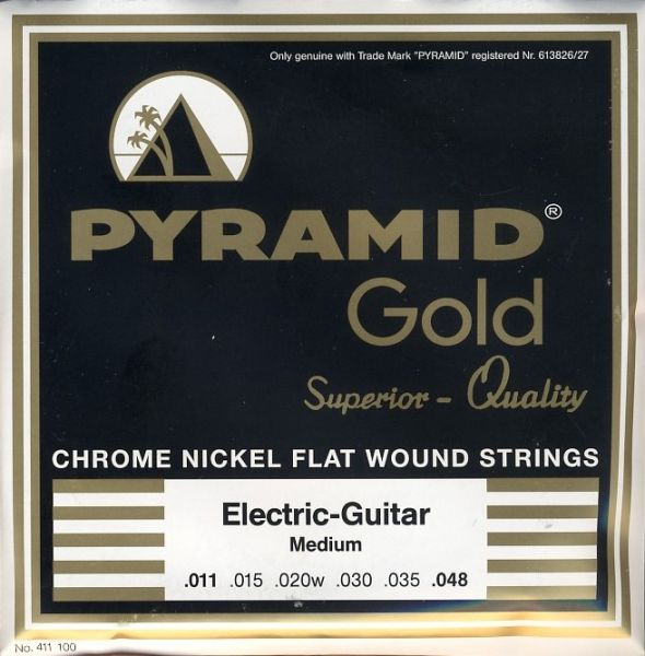 Chrome Nickel Flatwounds, Round Core, MEDIUM