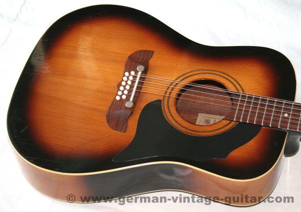 12-saitige Westerngitarre Framus Texan 5/296 von 1966, Originalzustand
