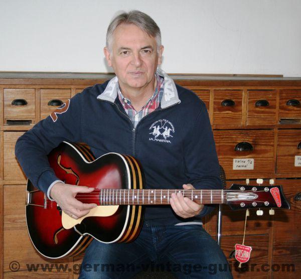 Fasan Jazzgitarre aus den sechziger Jahren (für D. Schuh, den Enkel des Fasan-Gründers Franz Sandner