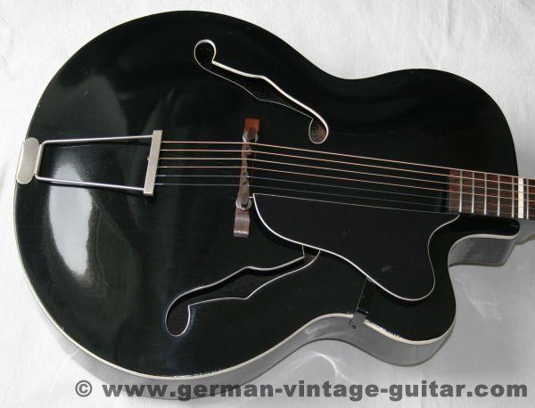 """Jazzgitarre Rodebald Hoyer """"Rumba"""" von 1960, restauriert"""