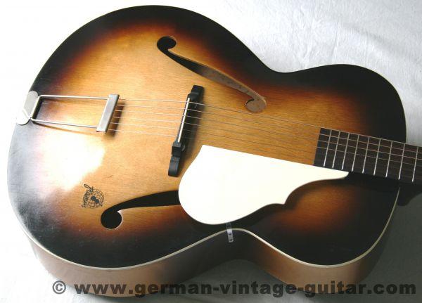 Jazz-/Schlaggitarre Framus Atlantis 5/52 von 1958, komplett überholt