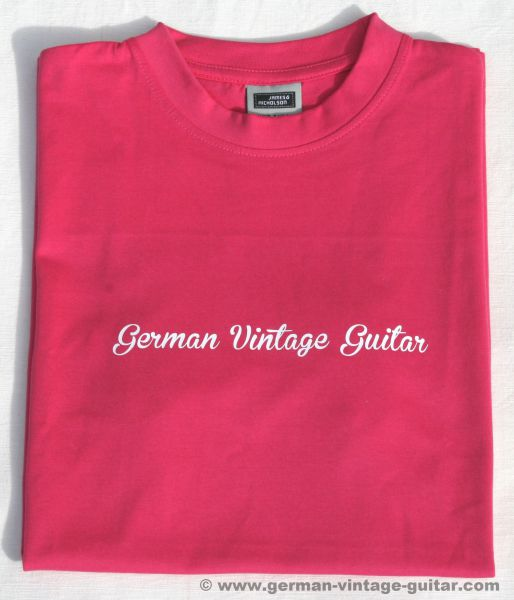 T-Shirt German Vintage Guitar PINK
