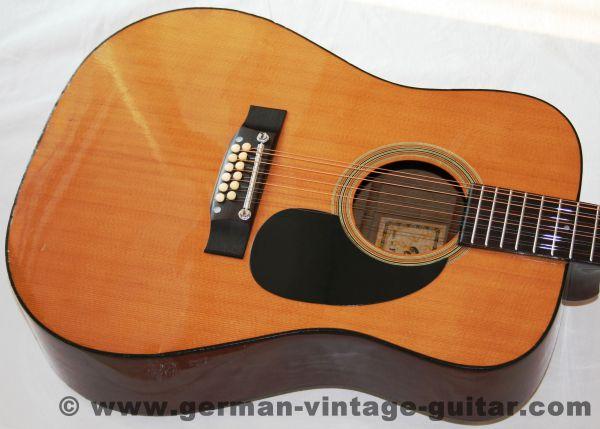 12-saitige Westerngitarre Hopf FW 35-12 von 1980, sehr schöner und lauter Klang