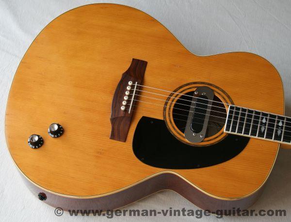 6-saitige Westerngitarre Framus Jumbo 6 (05511) von 1974, mit Original-Tonabnehmer