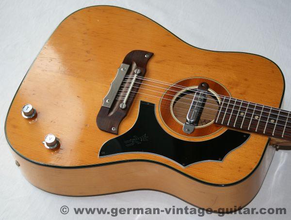 12-saitige Westerngitarre Klira Judy von Anfang der siebziger Jahre