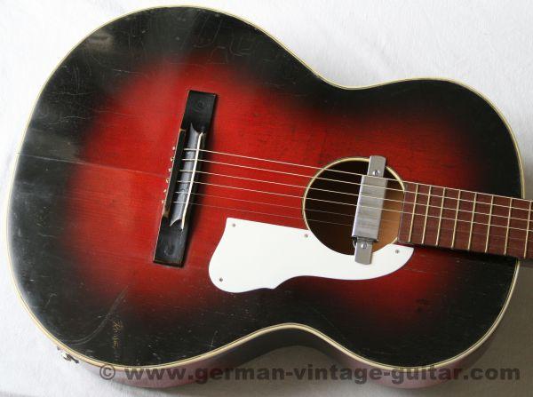 6-saitige Slidegitarre Rossmeisl von Anfang der sechziger Jahre