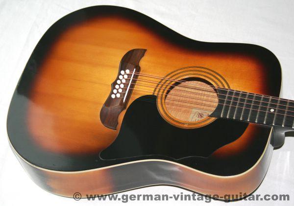 12-saitige Westerngitarre Framus Texan 5/296, frühes Modell von 1966, restauriert