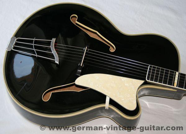 Jazz-/Schlaggitarre Hopf von 1955, aus Familienbesitz