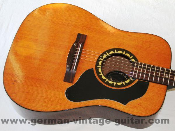 6-saitige Westerngitarre Höfner 4890 Blue Grass von 1971, schöner Originalzustand