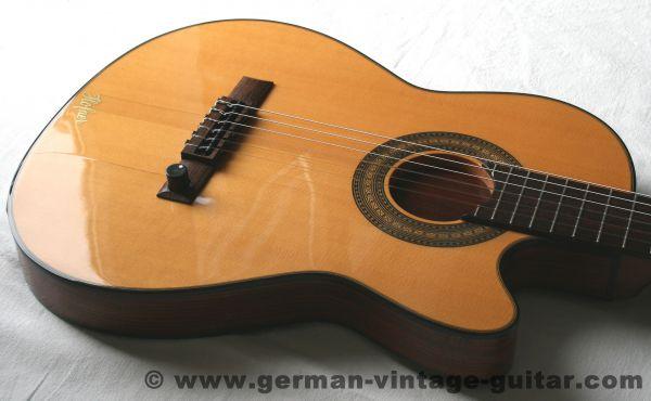 Klassische E-Gitarre Höfner CS1 von 1982 (wie Gibson CE Chet Atkins), seltenes Stück