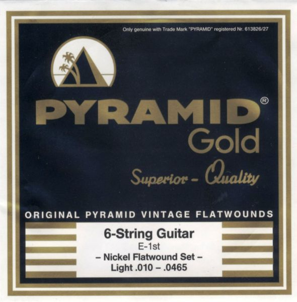 Gold Chrome-Nickel Flatwounds, Rundkern