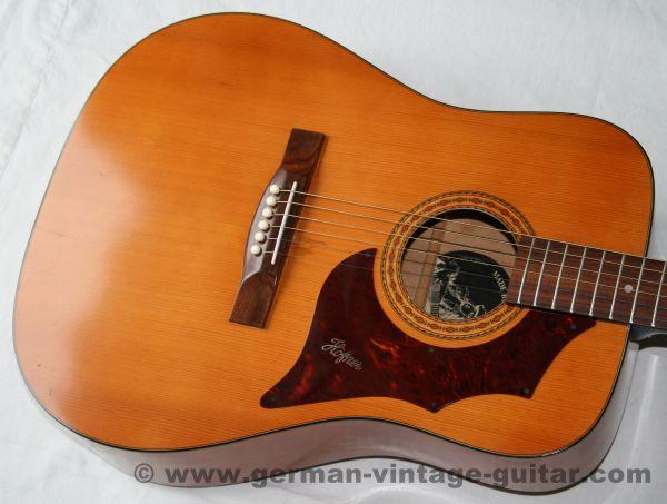 6-saitige Westerngitarre Höfner 489 von 1972, schöner Originalzustand, aus 1. Hand