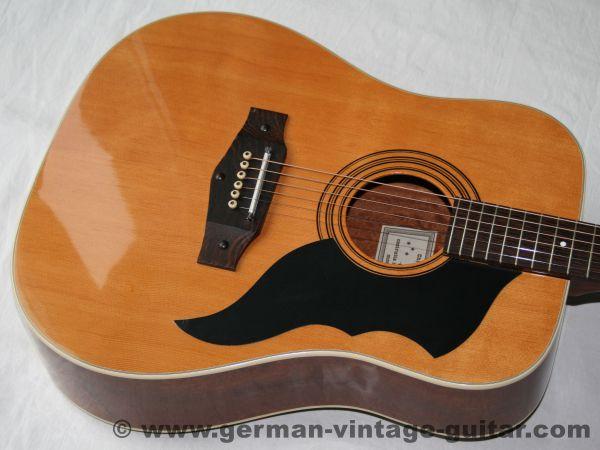 6-saitige italienische Westerngitarre Eko Ranger 6 von 1982