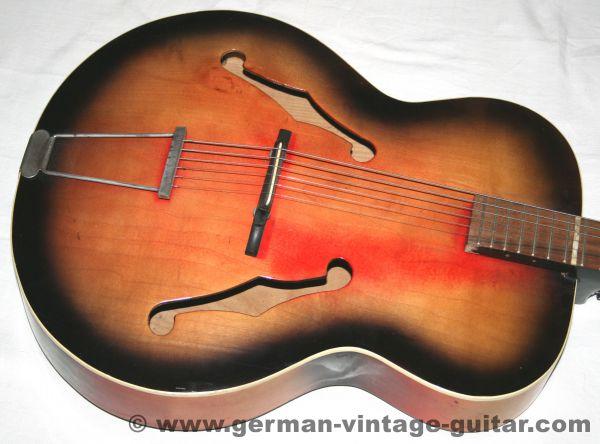 """Jazzgitarre Rodebald Hoyer """"Blues"""" von 1965"""