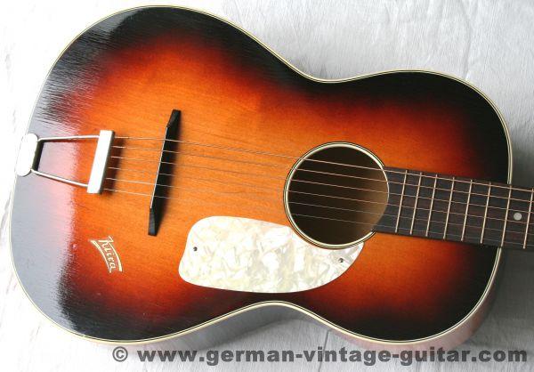 6-saitige Blues-/Parlour-/Wandergitarre Klira von Anfang der sechziger Jahre