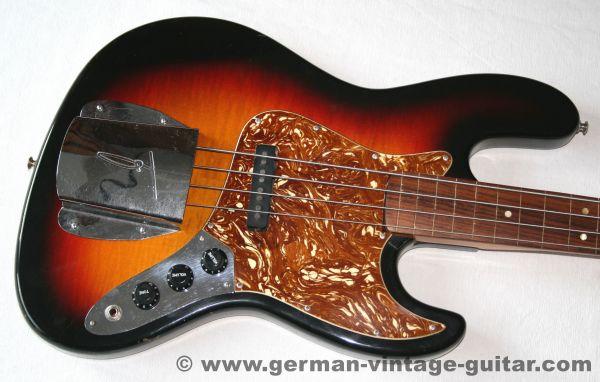 "Framus-Bass 5/380 Jazz Bass ""Pastorius"" Fretless, 1970"