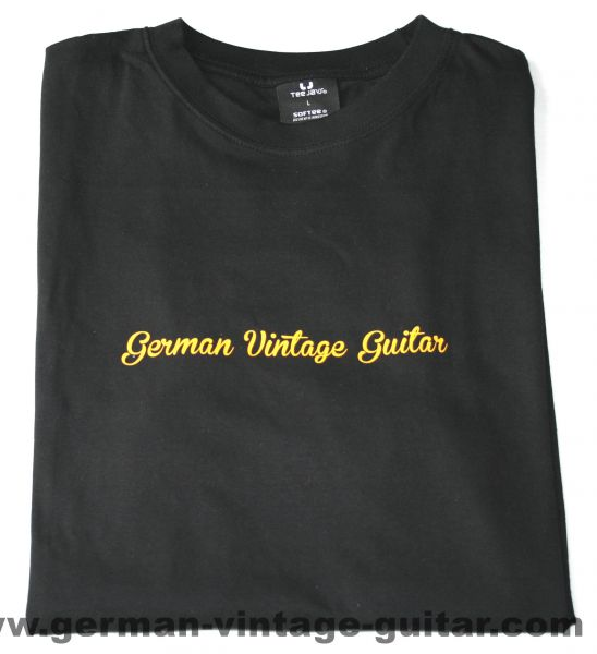 T-Shirt German Vintage Guitar SCHWARZ