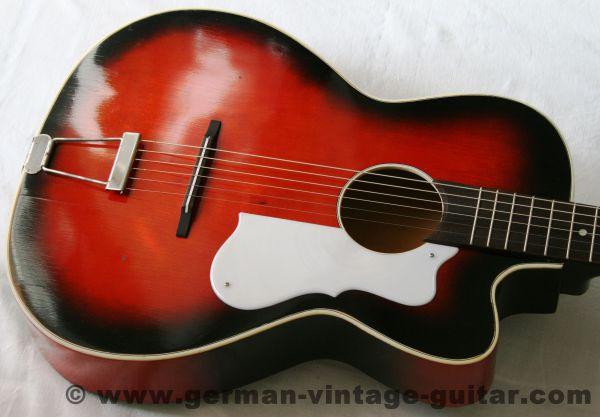 6-saitige Blues-/Wander-/Slidegitarre Hopf mit Cutaway aus den sechziger Jahren