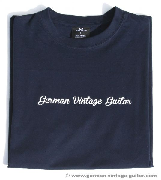 T-Shirt German Vintage Guitar BLAU