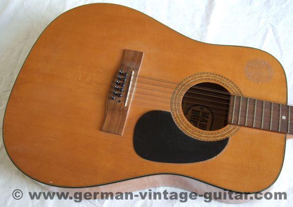 12-saitige Höfner 490 Westerngitarre von 1980