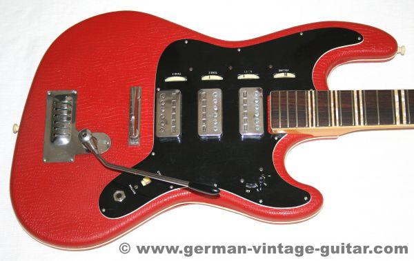 E-Gitarre Höfner 175 von 1963, Vinylbezug