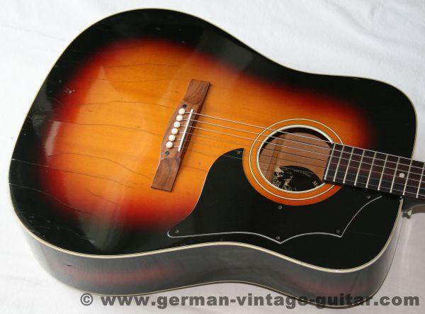 """6-saitige Westerngitarre Höfner 489 """"Arizona"""" von 1973"""