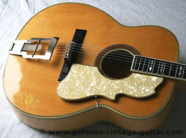 Western-Jazz-Gitarre Hoyer 10a Solo, von 1957 oder 58, Rarität in Traumzustand