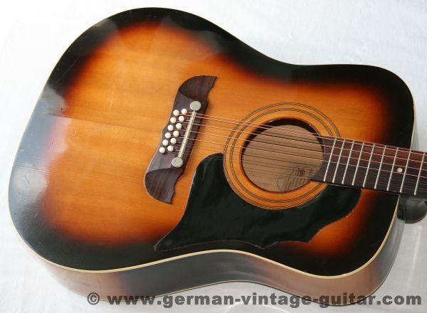 12-saitige Westerngitarre Framus Texan 5/296, frühes Modell von 1966, Originalzustand