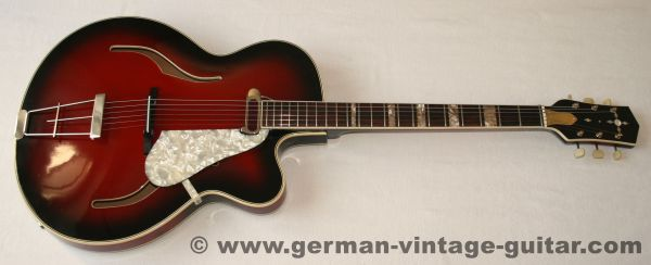 Gustav Glassl Thinline, 1962, DeArmond neck pickup
