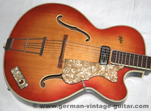 Jazzgitarre/Archtop Höfner 4570 E1 von 1961
